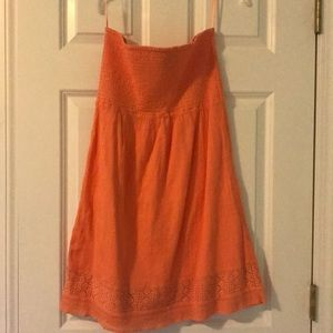 Gap strapless beach cover up